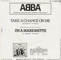 ABBA Take A Chance On Me Vinyl Record 7 Inch French Melba 1978